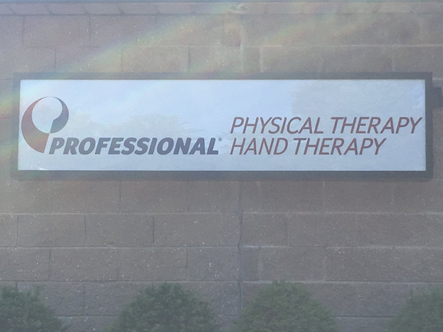 Here is the sign for our physical therapy clinic in West Caldwell.