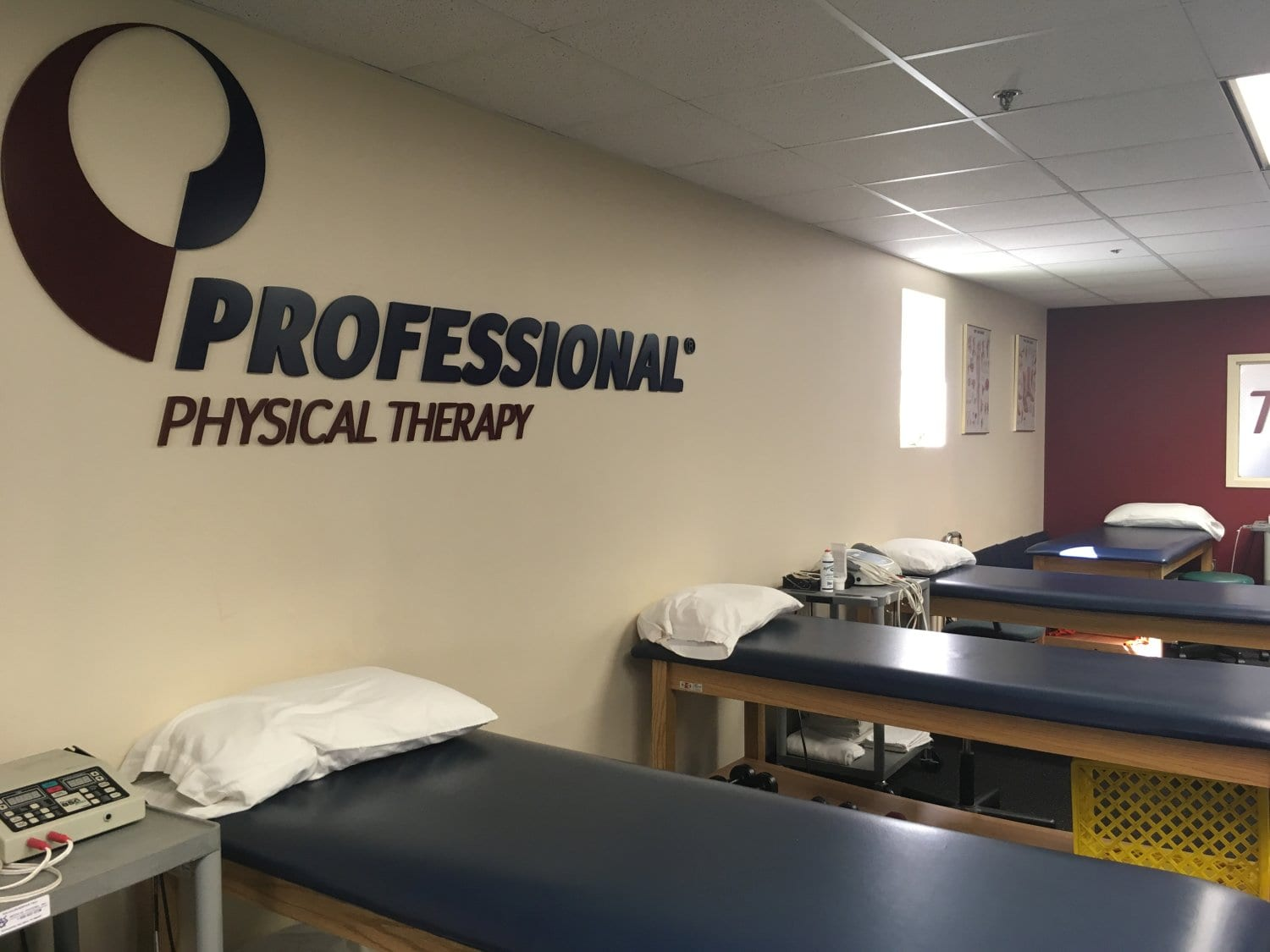 This is an image of the beds at our physical therapy clinic in West Caldwell, New Jersey.
