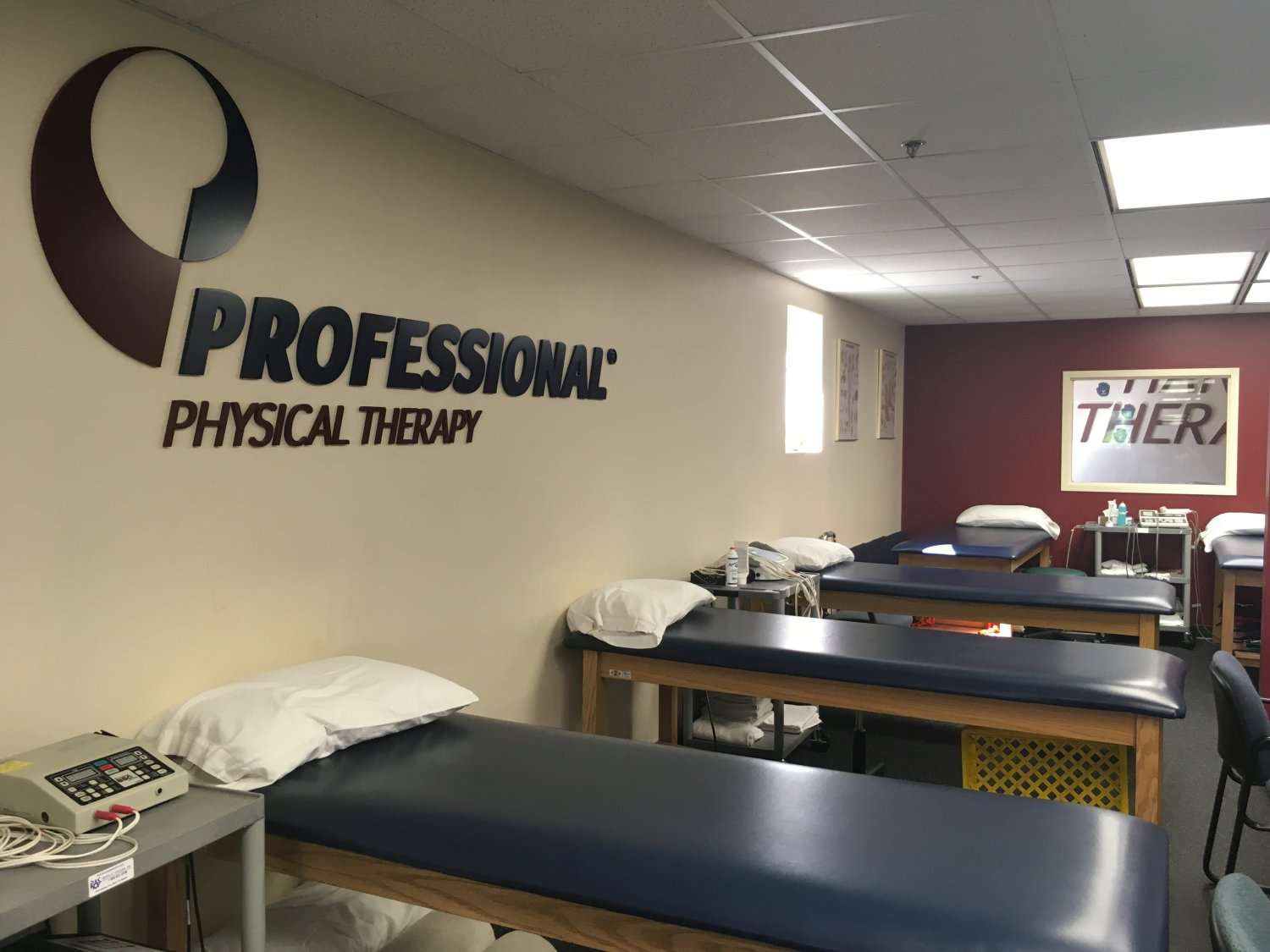 Interior of our physical therapy clinic in West Caldwell, NJ.