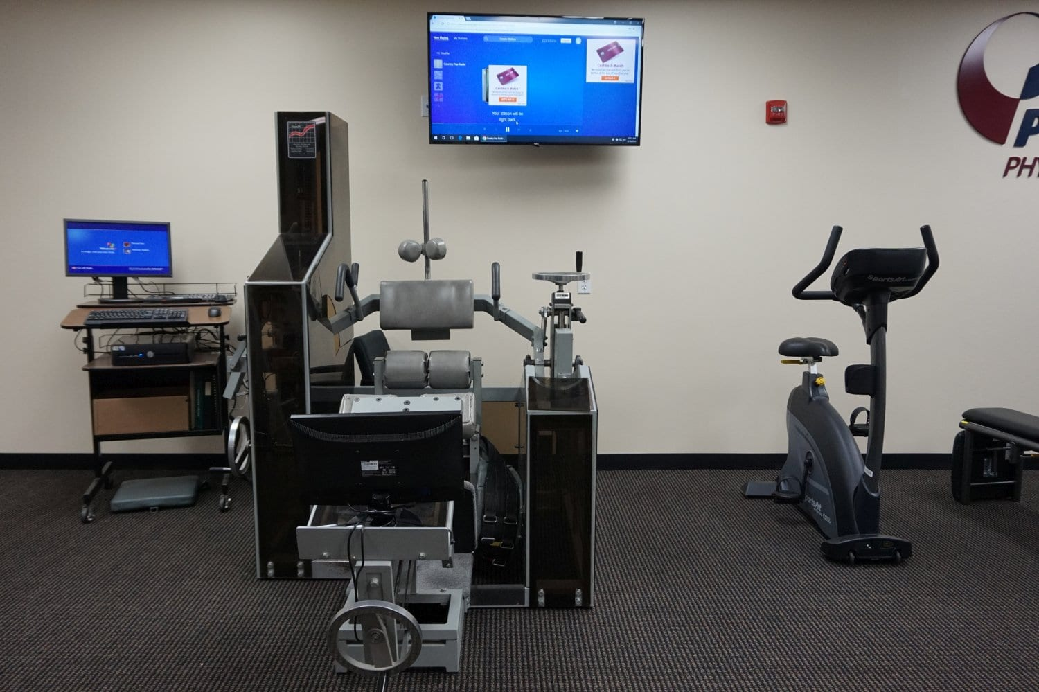 This image shows equipment used for physical therapy at our clinic in Winchester Massachusetts.