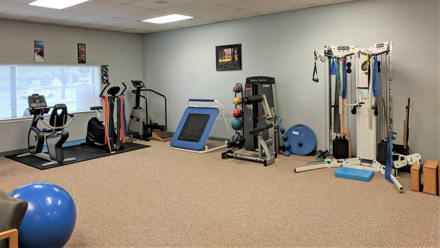 This is an image of the inside of our Plymouth, Massachusetts physical therapy clinic.