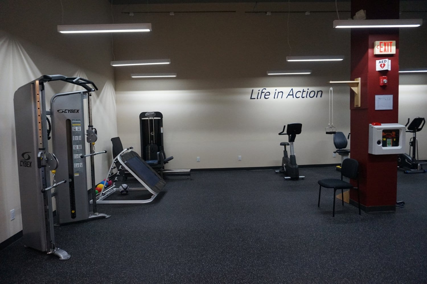 Here is another part of the interior of our physical therapy clinic in West Islip New York. This image shows more equipment at our facility.