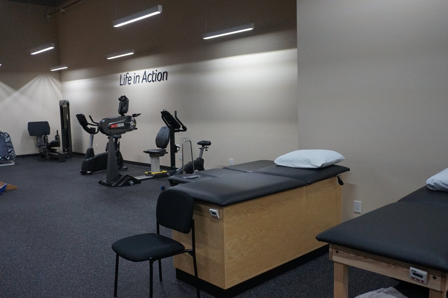 Here is a shot of the inside of our physical therapy clinic in West Islip New York.