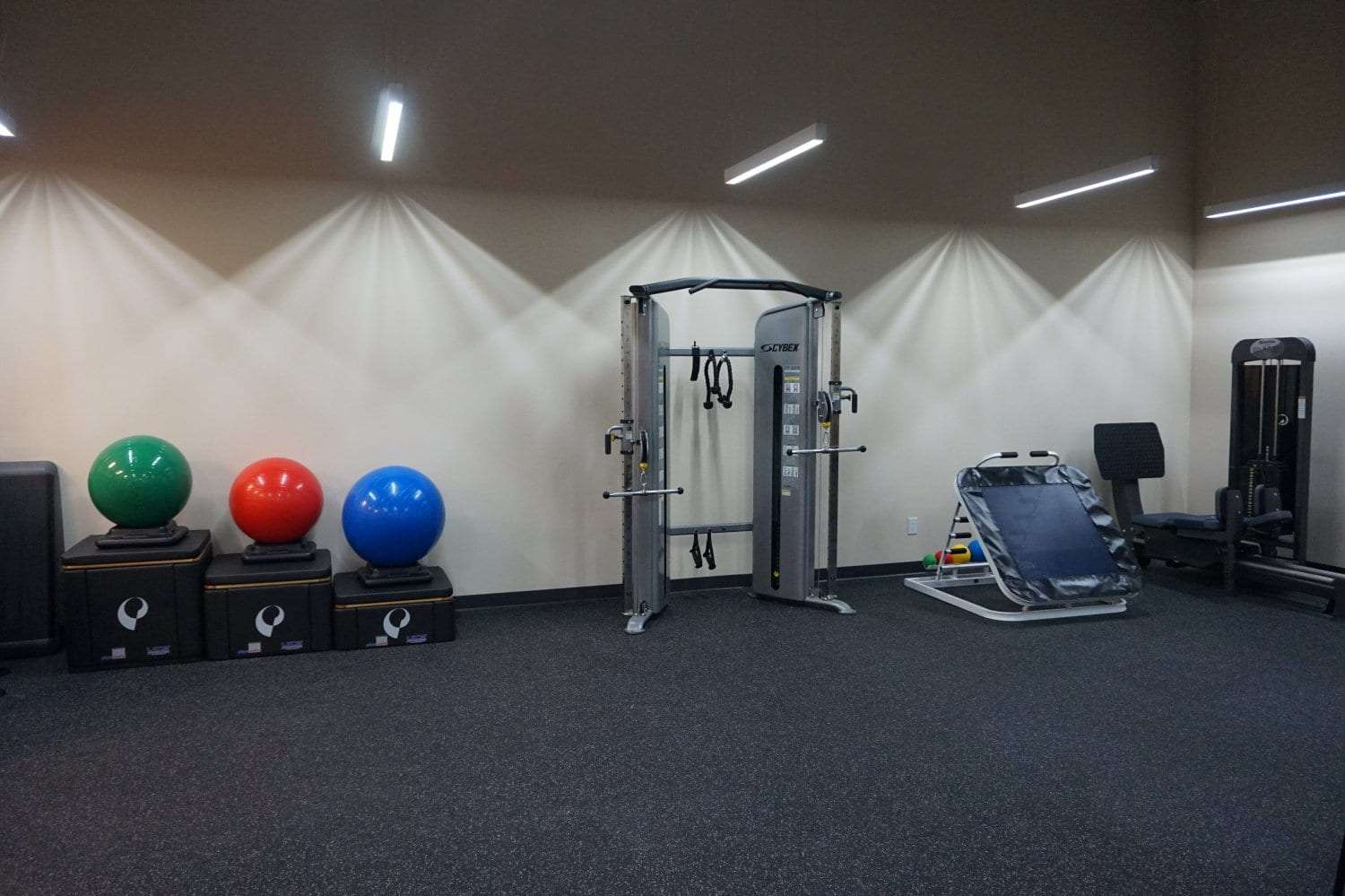 Here is a great shot showcasing some of the equipment used at our physical therapy clinic in West Islip New York.