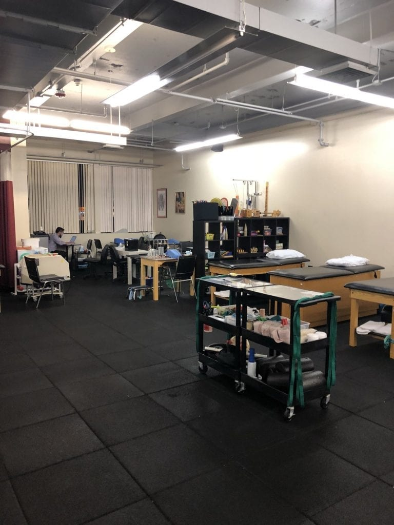 Another angle of our training room at our physical therapy clinic in Melville, Long Island in Suffolk County, New York.