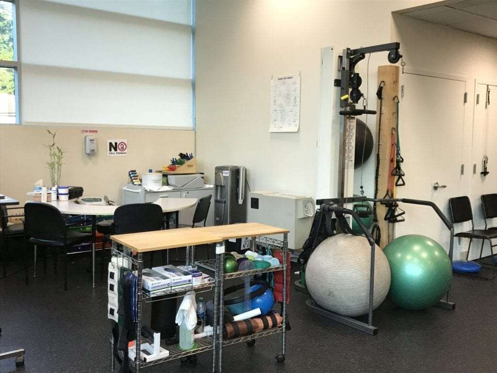 An image of exercise balls at our physical therapy clinic in Great Neck, New York.