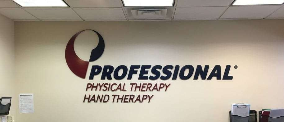 An image of the sign for our physical therapy clinic in lower Manhattan, New York City at Chelsea.