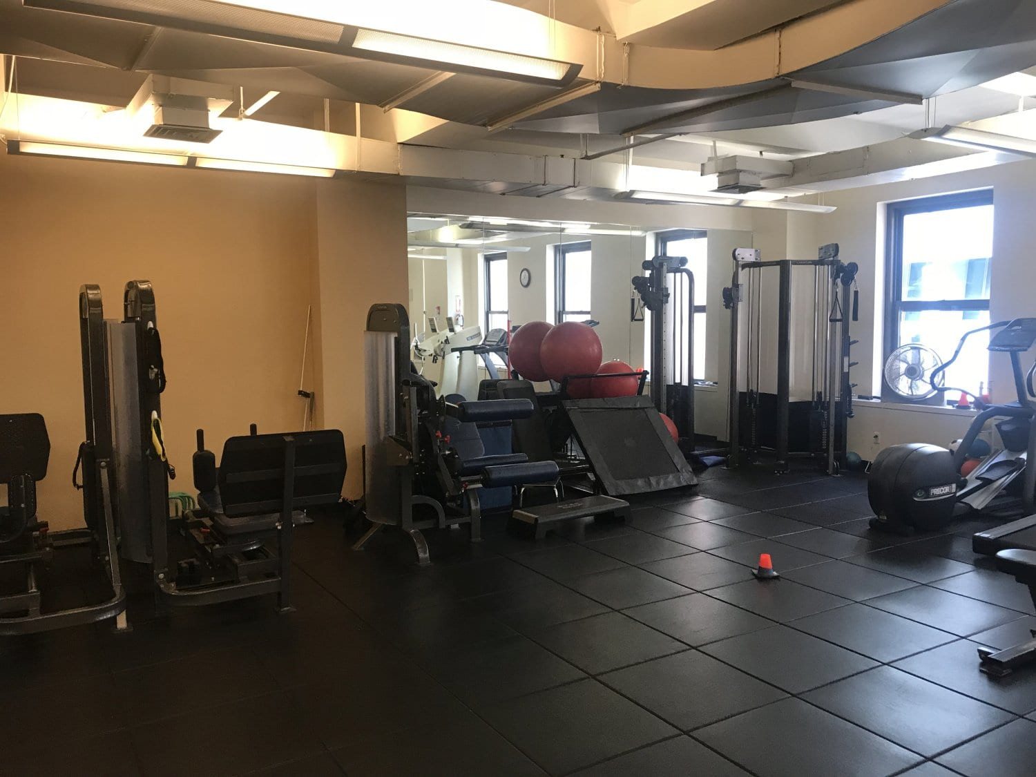 At image of the various exercise equipment at our physical therapy clinic in Manhattan, New York City, Midtown East.