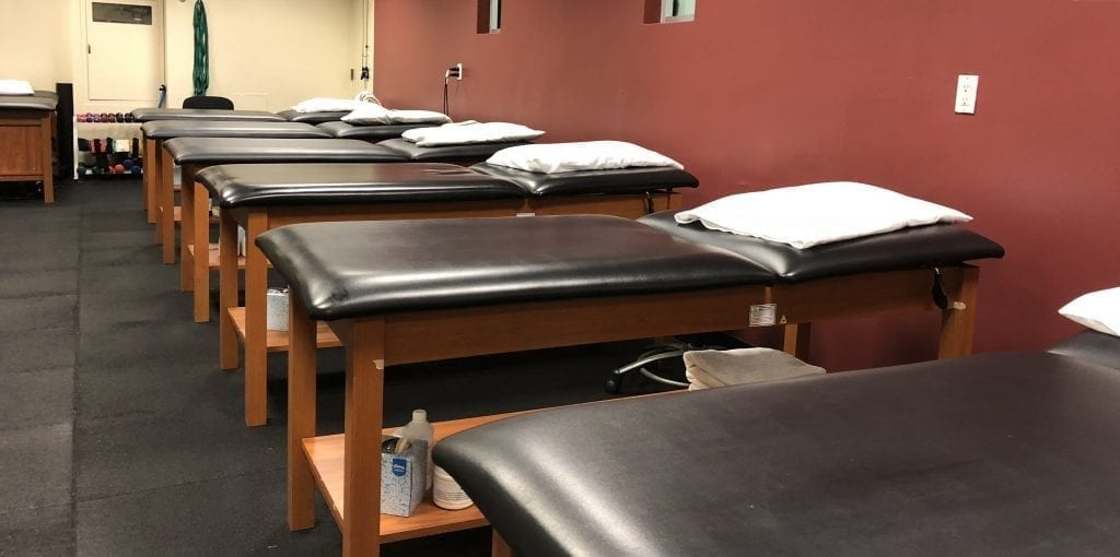 An image of stretch beds at our physical therapy clinic in Manhattan, New York City on the upper west side at Columbus Circle.