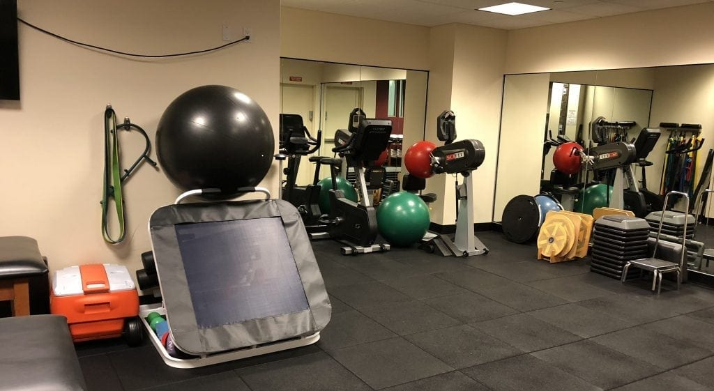 An image of well maintained equipment at our physical therapy clinic in Manhattan, New York City on the upper west side at Columbus, Circle.