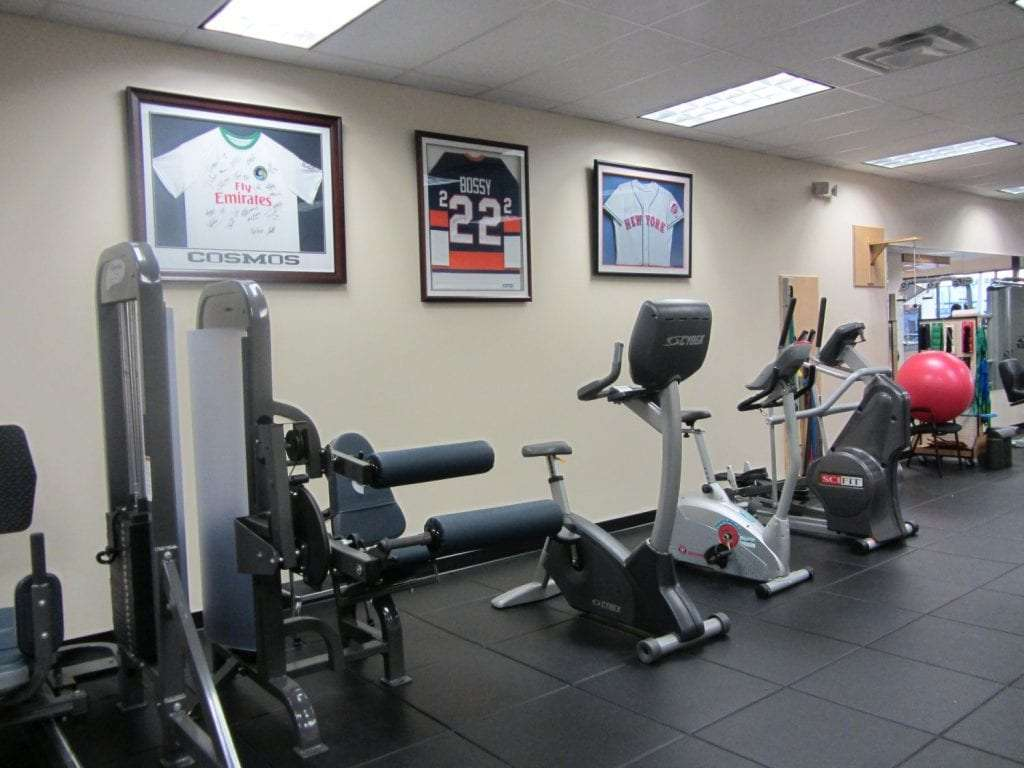 This a photo of some of the machines used for physical therapy at our clinic in Merrick, New York.