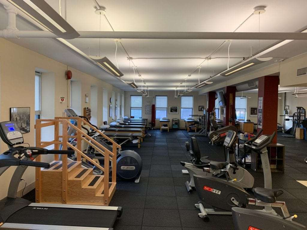 Stair hip treatment exercise equipment at our physical therapy clinic in Manhattan, NYC at Upper East Side on 87th st.
