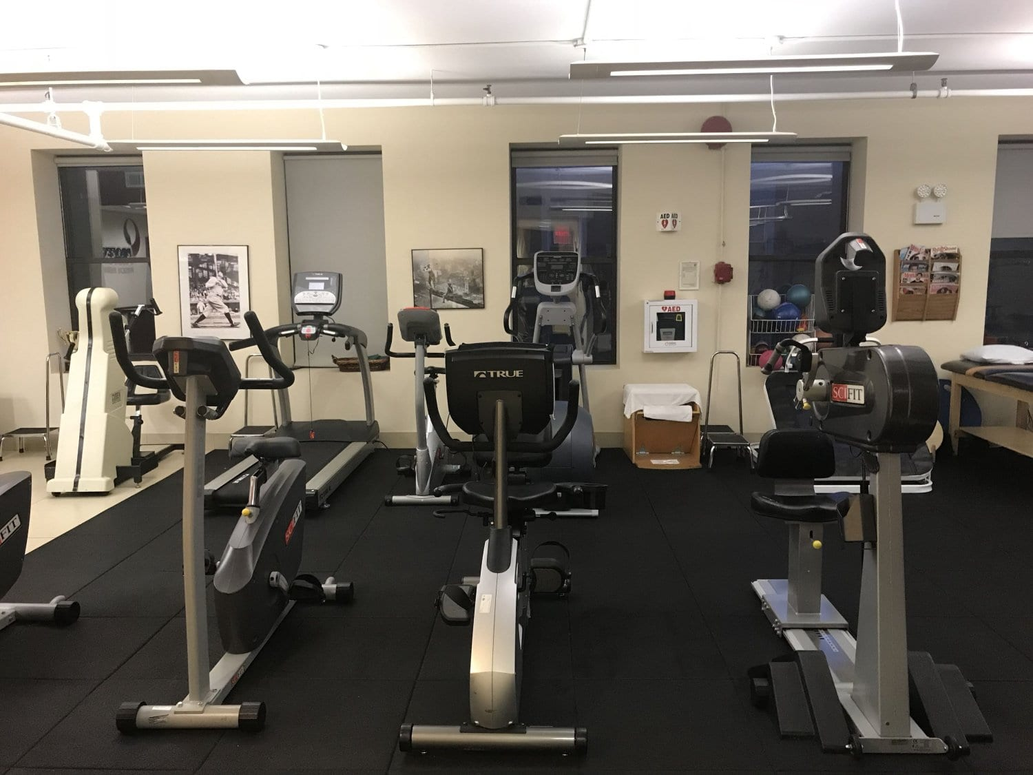 An image of bikes at our physical therapy clinic in Manhattan, New York City, at Upper East Side on 84th st.