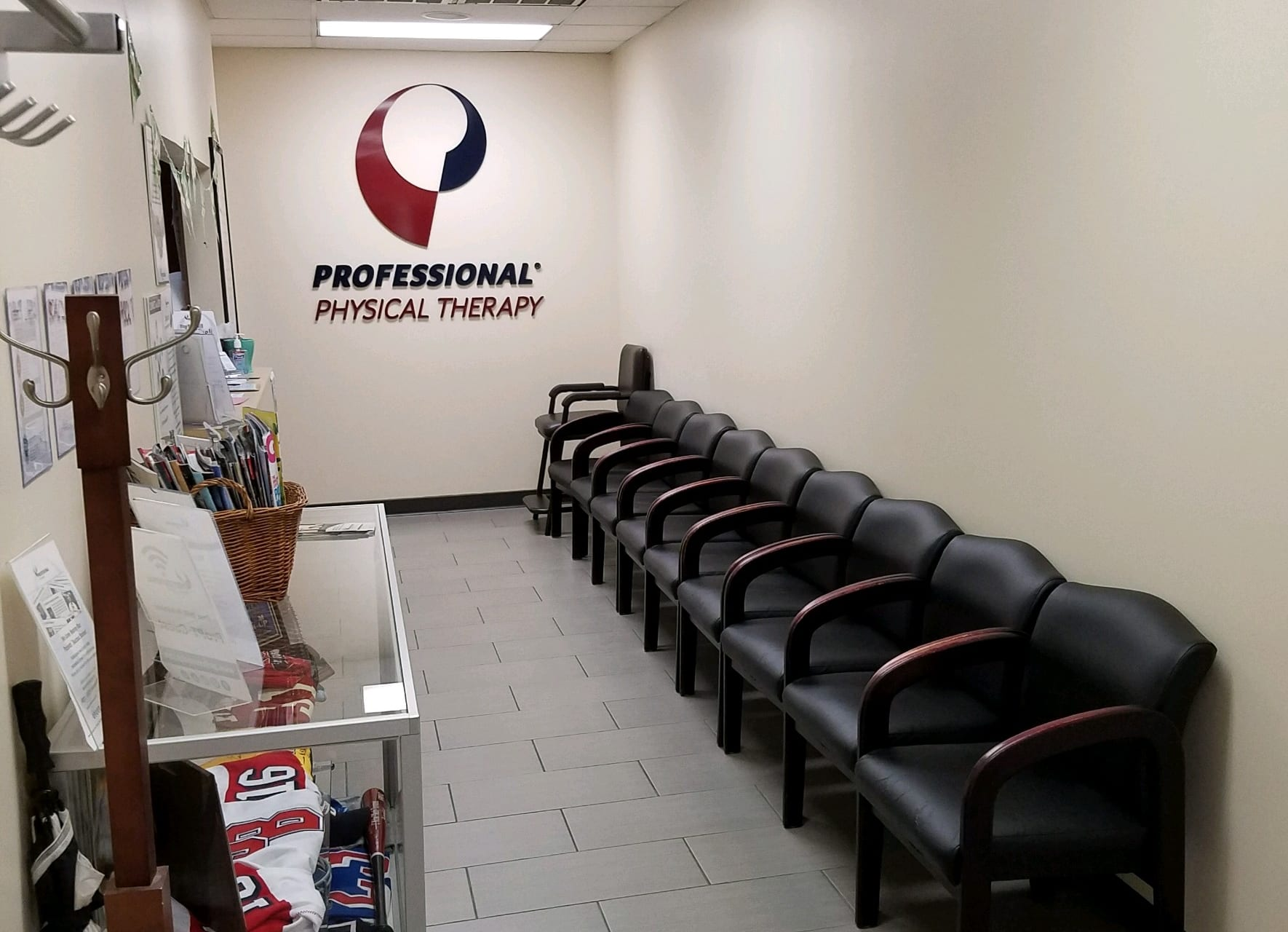 Front entrance and waiting room at our Smithtown, NY physical therapy clinic.
