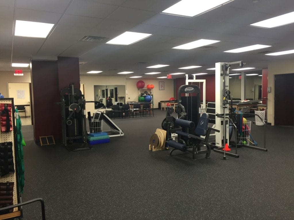 An image of the training area at our physical therapy clinic in Bronx, New York.