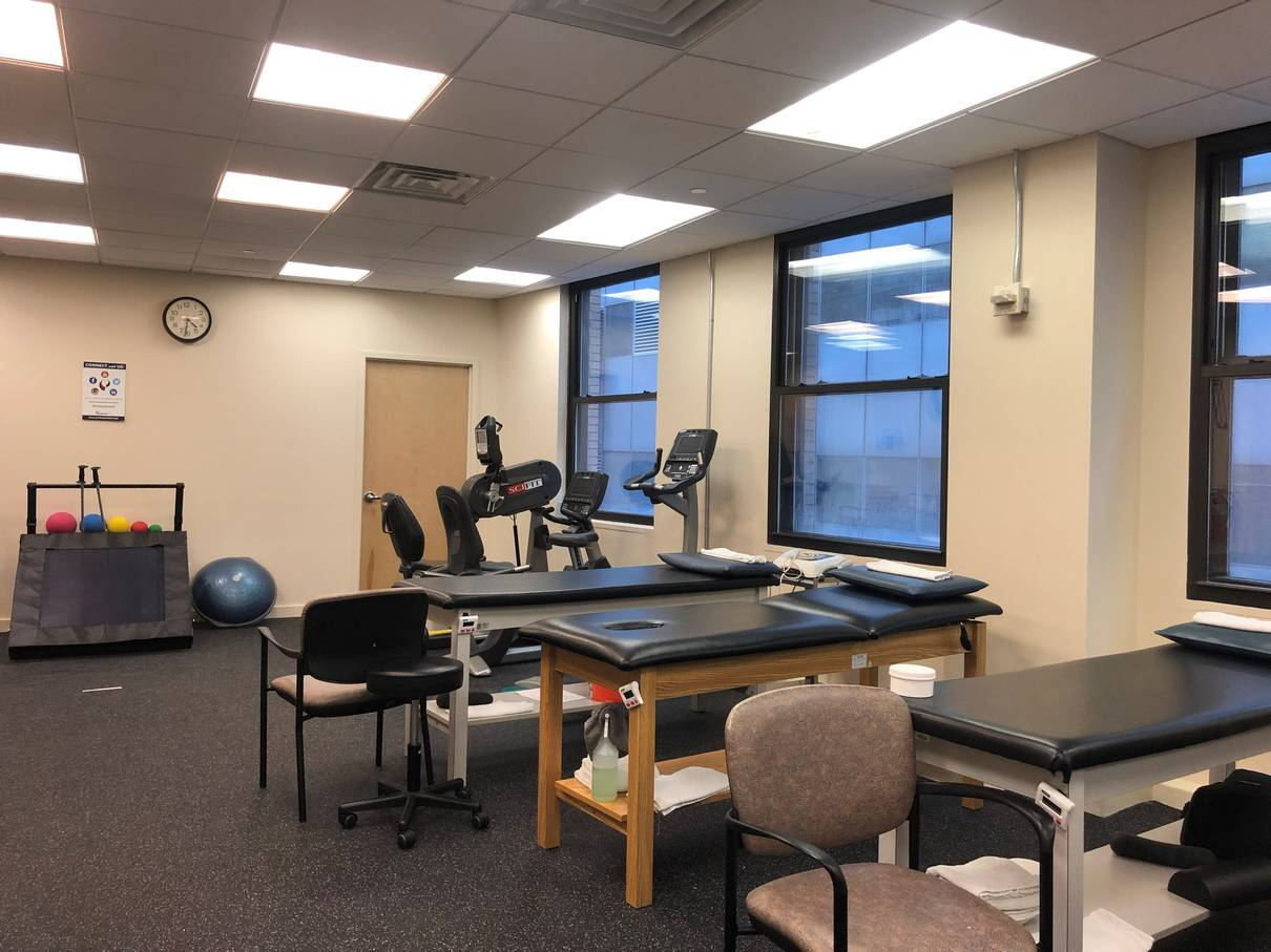 An image of the rehab room at our physical therapy clinic in lower Manhattan, New York City at Broadstreet.