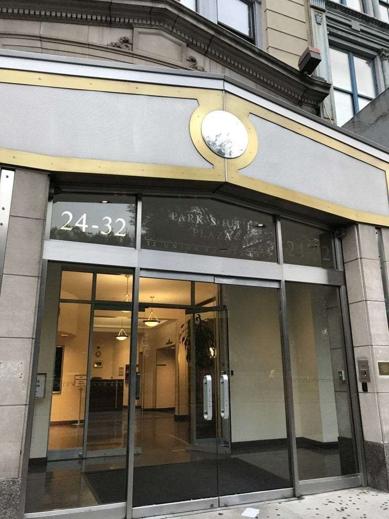 Here is the extior of our physical therapy clinic in lower Manhattan, New York City. The facility is located in Union Square.