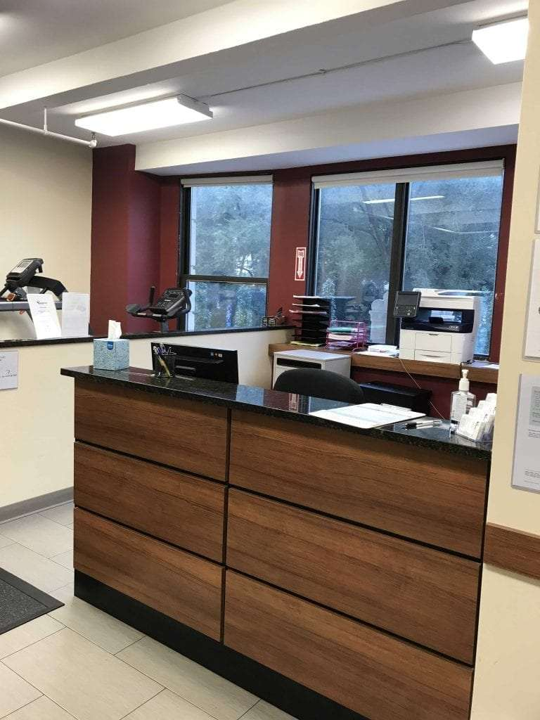 This is an image of reception at our physical therapy clinic in lower Manhattan, New York City. The facility is located in Union Square.