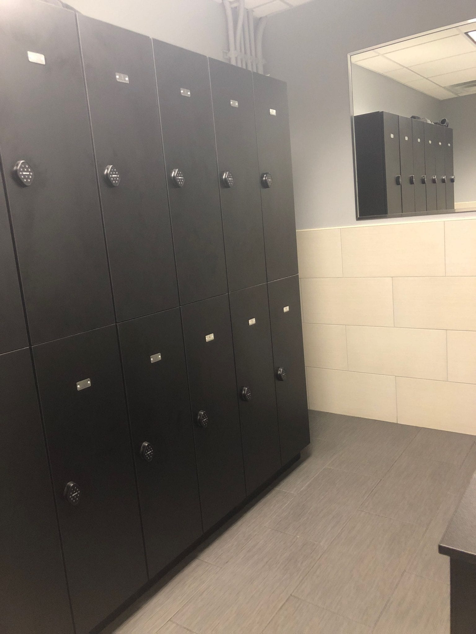 Here is an image of our locker room at our physical therapy clinic in lower Manhattan, New York City at Union Square.