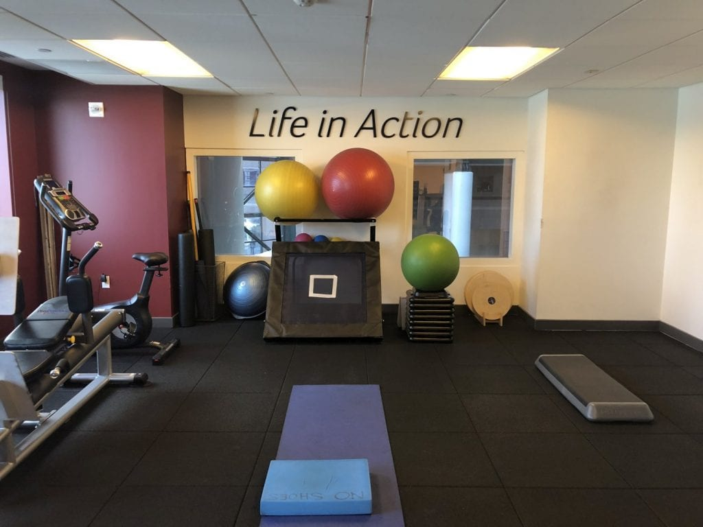 An image of our clean, well maintained physical therapy clinic in lower Manhattan, New York City at Brookfield.