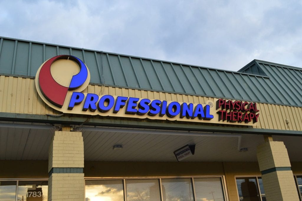 This is an image of the front of the physical therapy clinic in Baldwin, New York.
