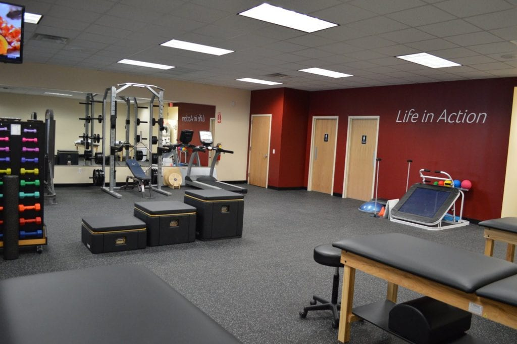This is an image of the clean training area at our physical therapy clinic in Baldwin, New York.