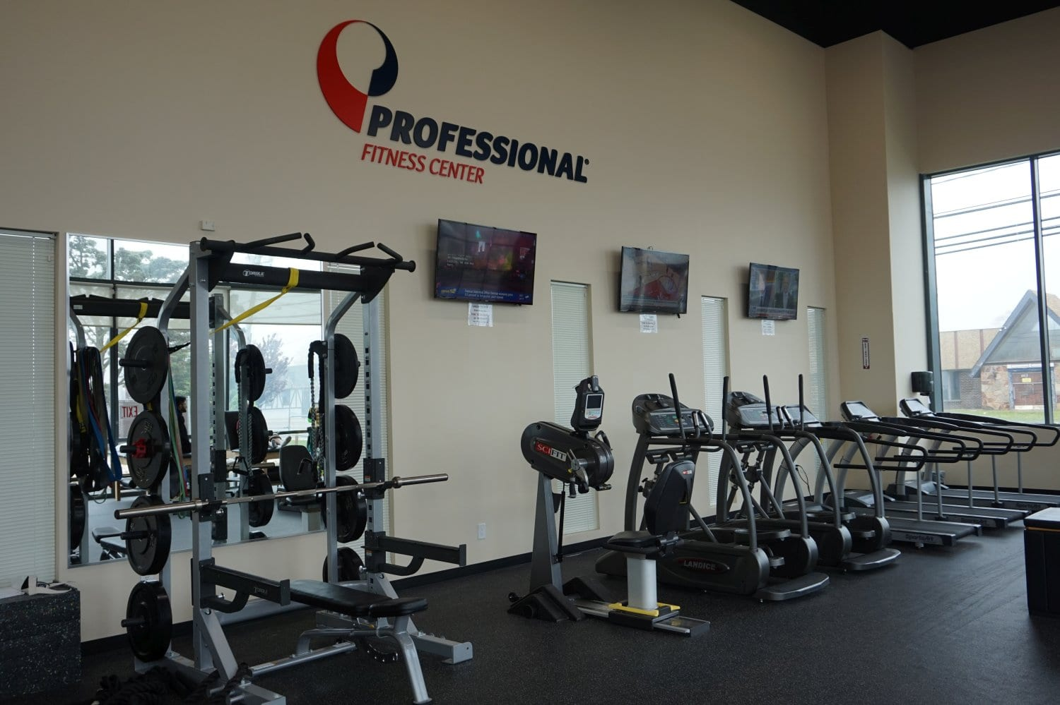 An image of treadmills and bikes at our physical therapy clinic in Copiague, New York.