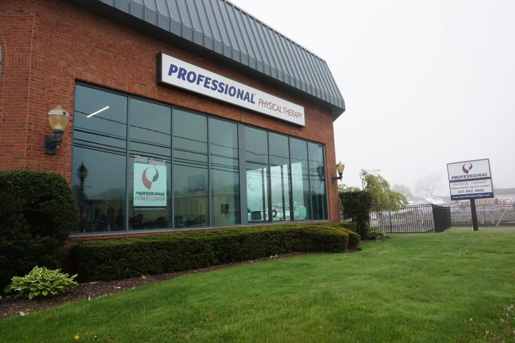 An image of the outside and the sign for our physical therapy clinic in Copiague, New York.