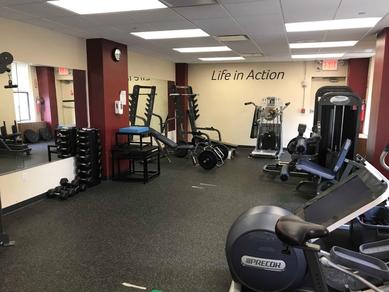 Here is an image of the training room with many different kinds of equipment used at our physical therapy clinic in East Murray Hill, New York in Manhattan in Midtown East.