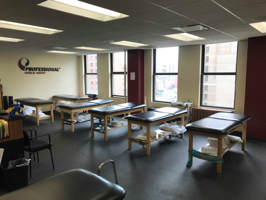 Another view of the stretch beds at our physical therapy clinic in Easy Murray Hill, Manhattan, New York City.