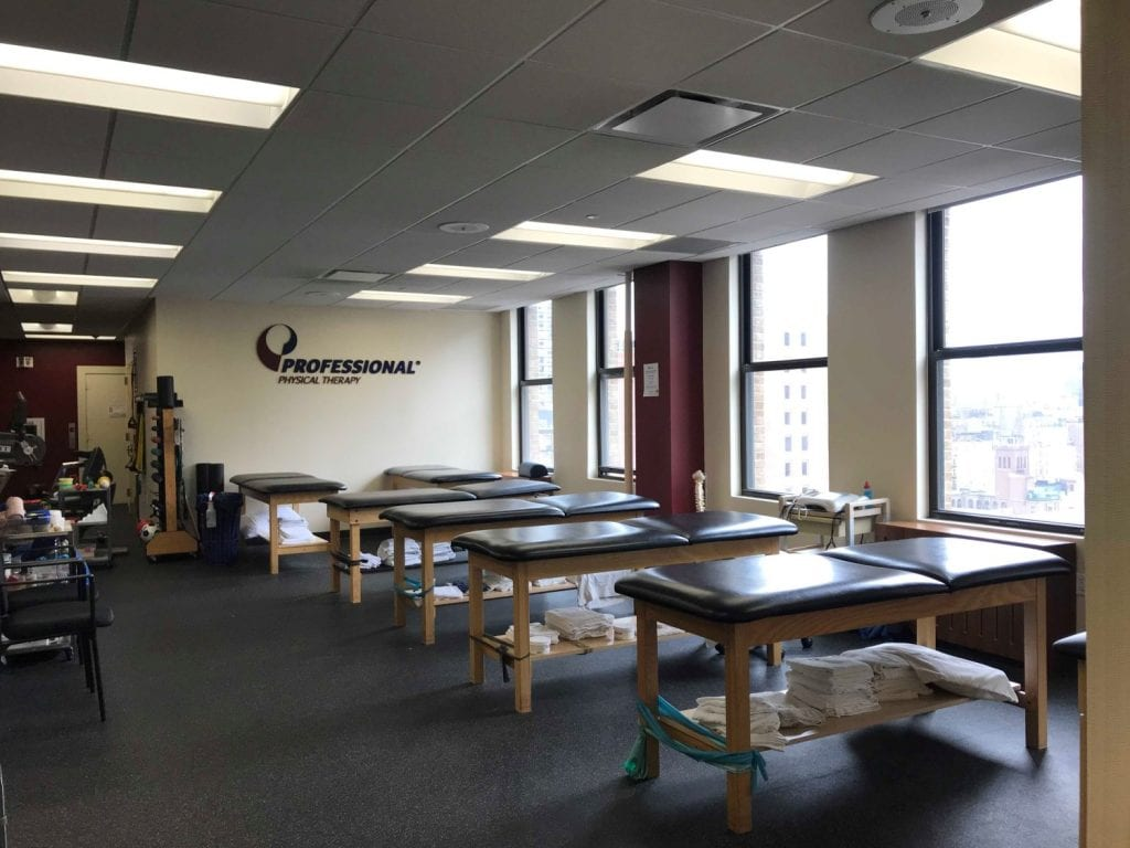 A photo of the stretch beds used in physical therapy at our clinic in Easy Murray Hill, Manhattan, New York City.