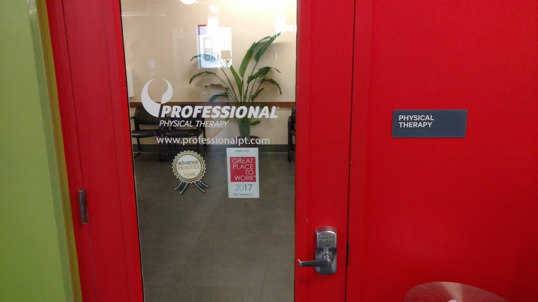Here is a photo of the front door of our physical therapy clinic in Manhattan midtown east at Sutton Place.