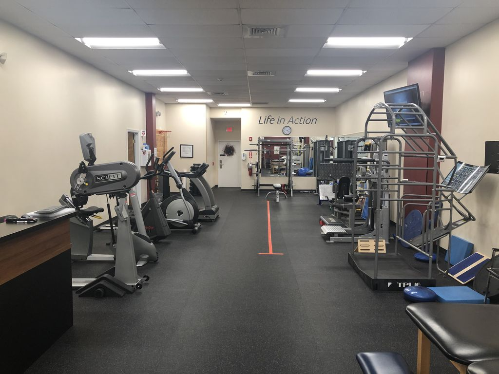 Main rehabilitation room at our physical therapy clinic in Norwalk, CT.