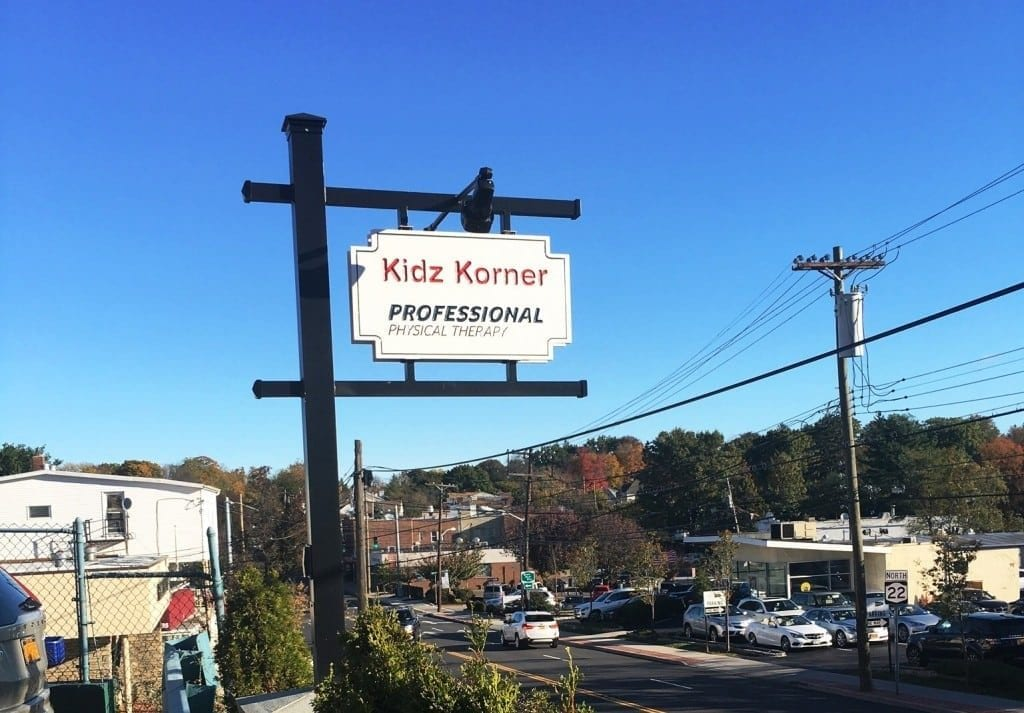 This is an image of the sign outside of our physical therapy clinic in Eastchester, New York.