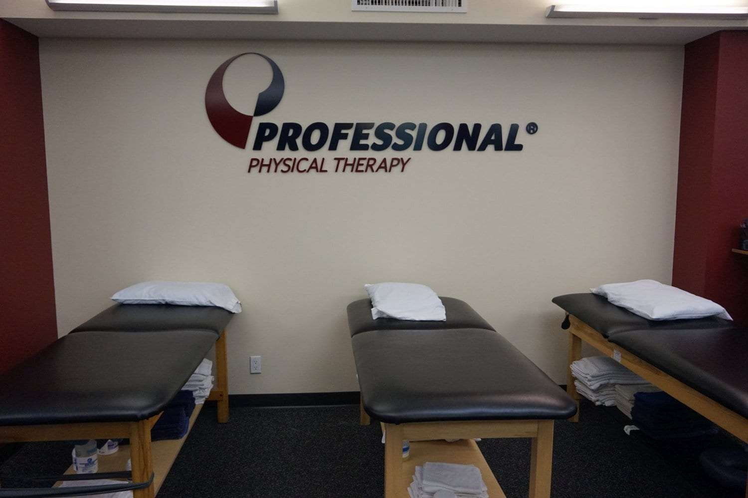 An image of three stretch beds used in physical therapy at our clinic in Manhattan, New York City at upper east side on 77th st.