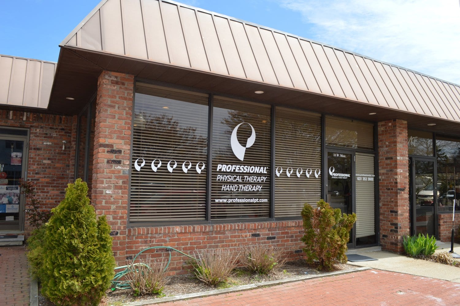 Here is an exterior shot of our physical therapy clinic in Southampton, New York.