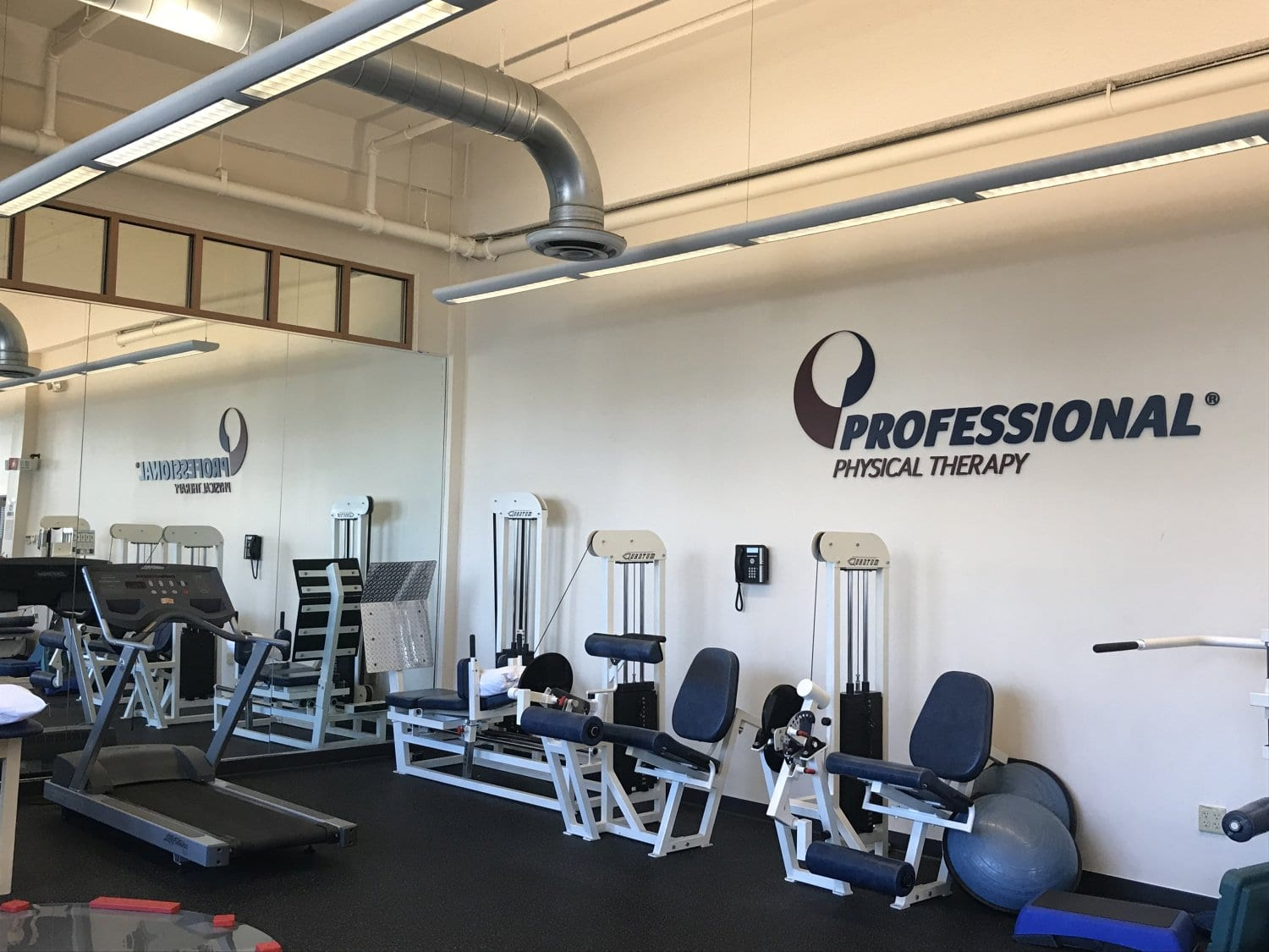 An image of the interior training room for our physical therapy clinic in Montclair, New Jersey at Greenwood.