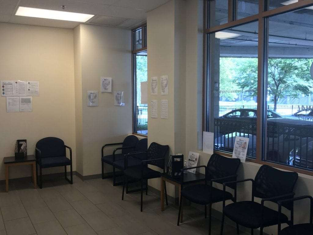 Here is an image of the waiting area at our physical therapy clinic in Montclair, New Jersey at Greenwood.