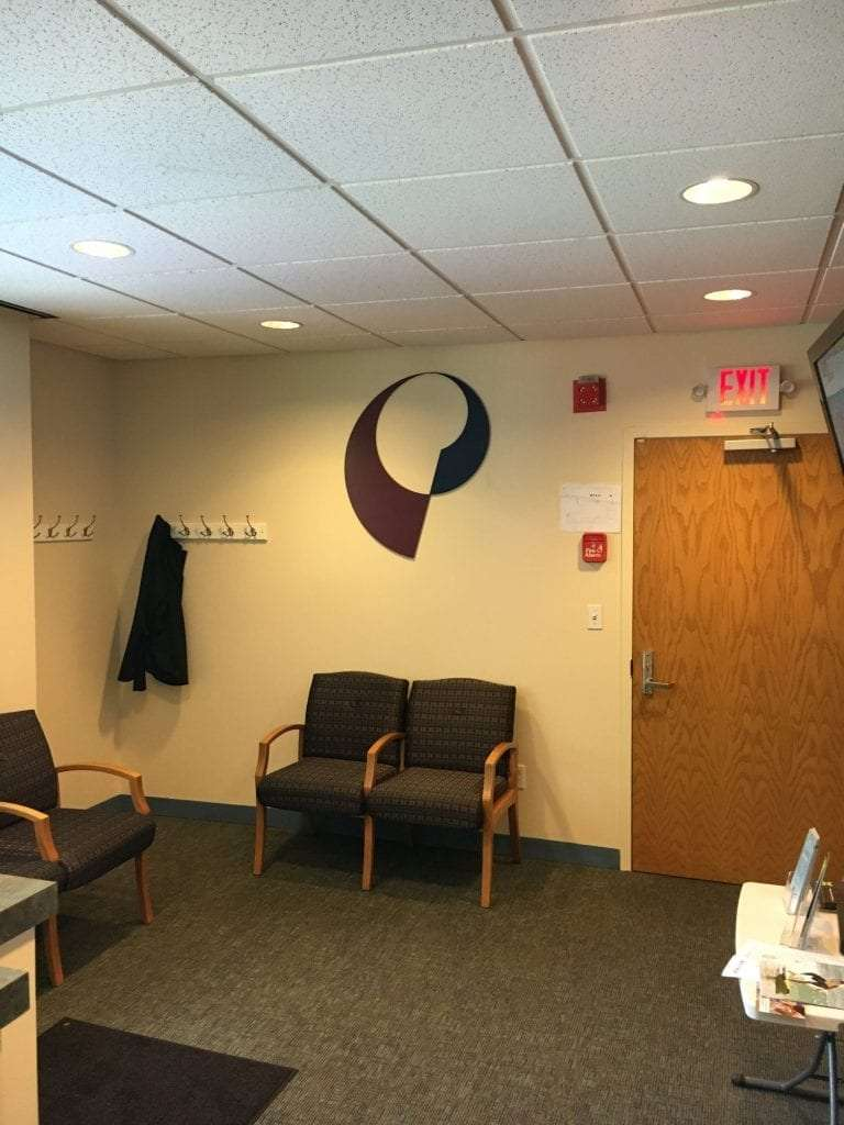 Here is an image of the patient waiting area at our physial therapy clinic in Darien, Connecticut.