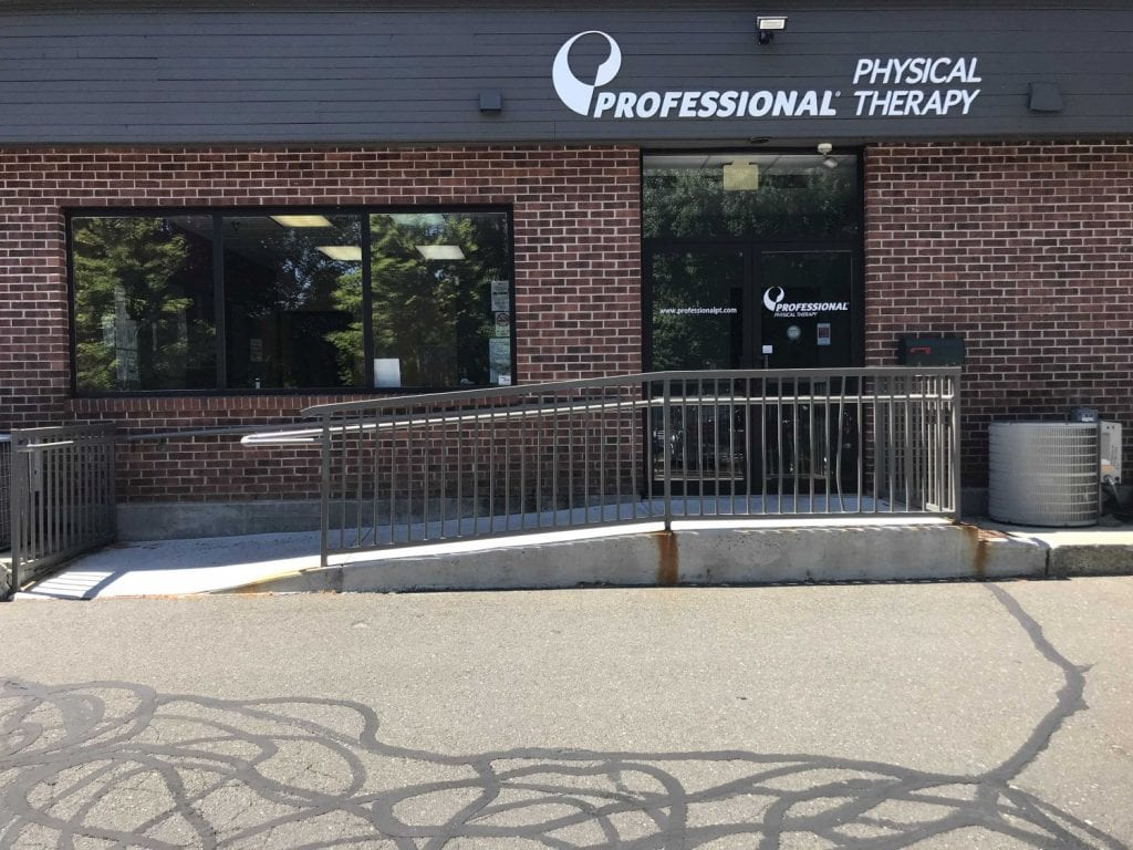 Here is an image of the front entrance of our Ridgefield, Connecticut physical therapy clinic.