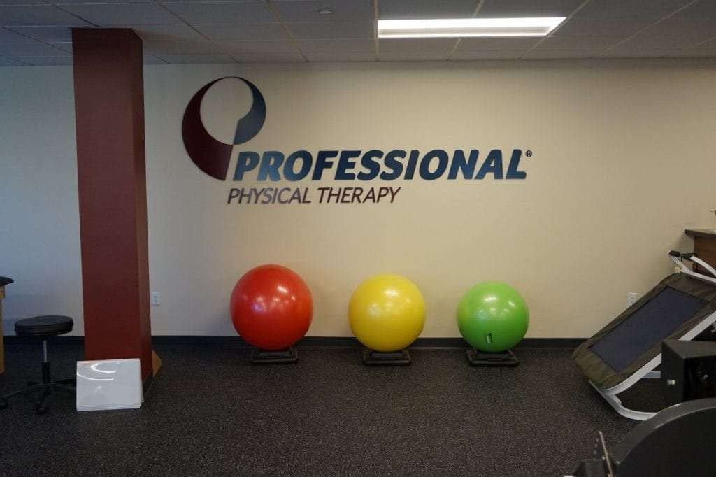 This is an image of three exercise balls at our physical therapy clinic in Stamford, Connecticut.