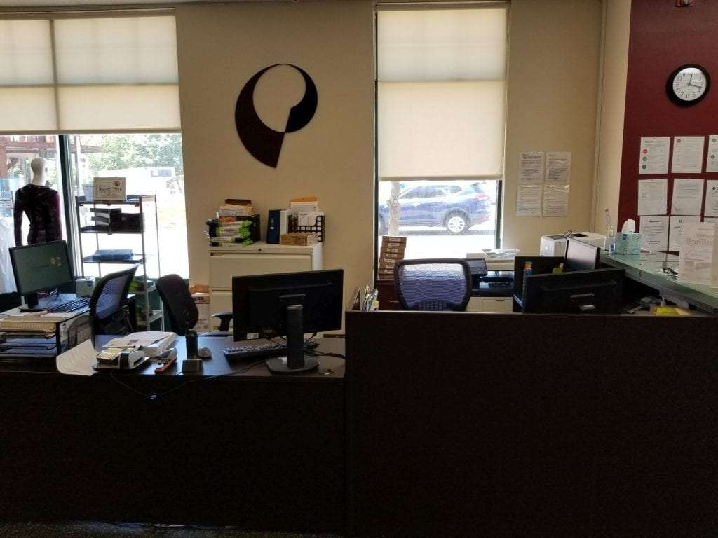 This is an image of the front desk at our physical therapy clinic in Montclair, New Jersey at Bloomfield.