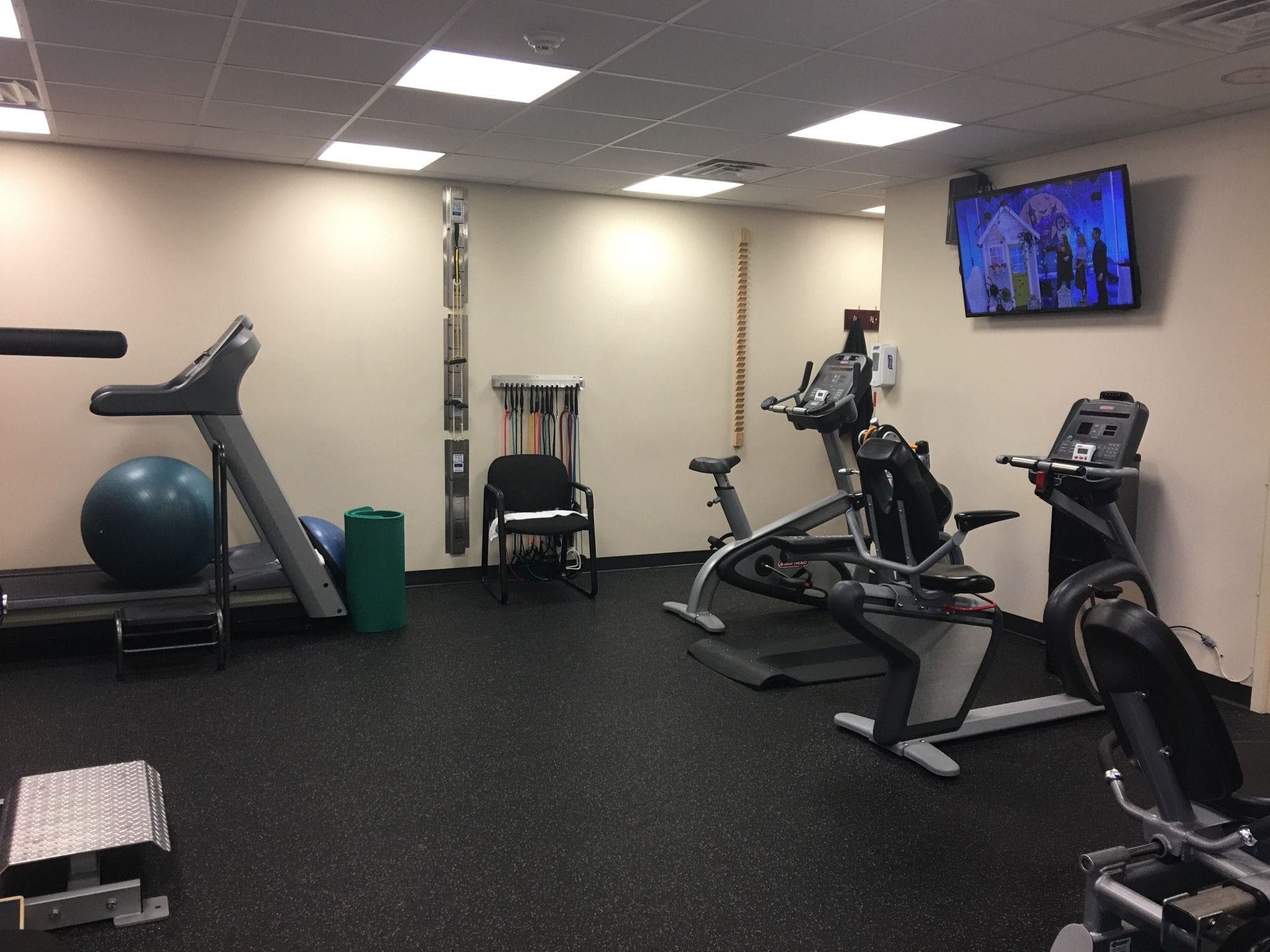 Here is an image of a part of our training room at our physical therapy clinic in Nutley, New Jersey at Bellville.