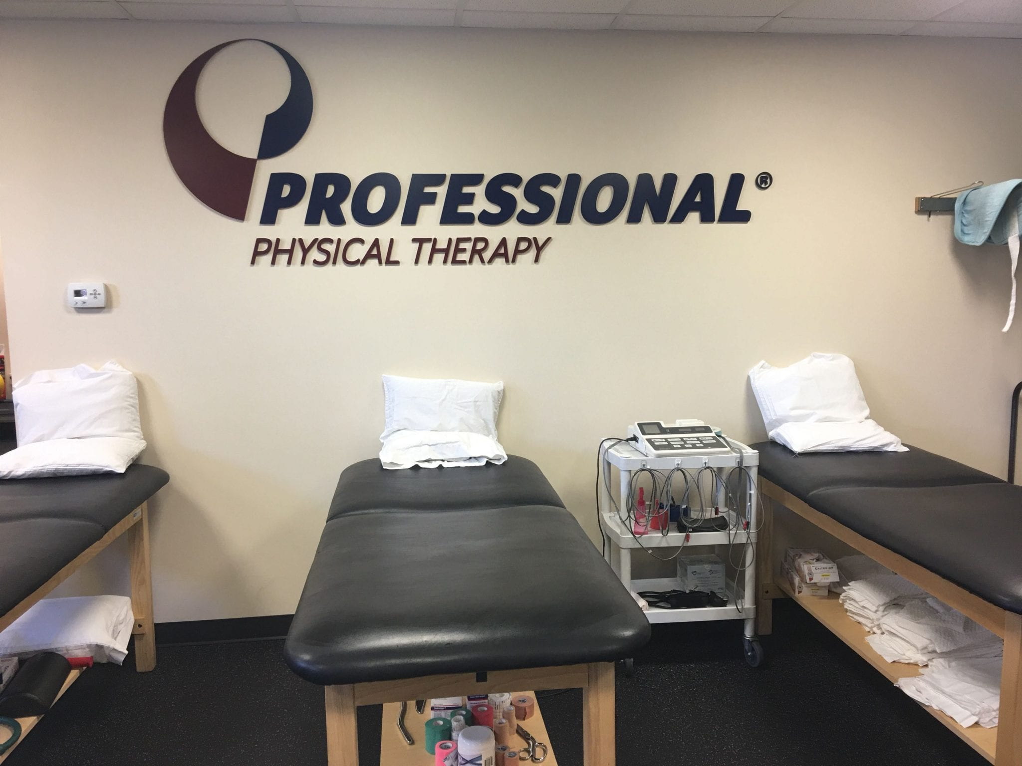 Here is a photo of stretch beds at our physical therapy clinic in Nutley, New Jersey at Belleville.