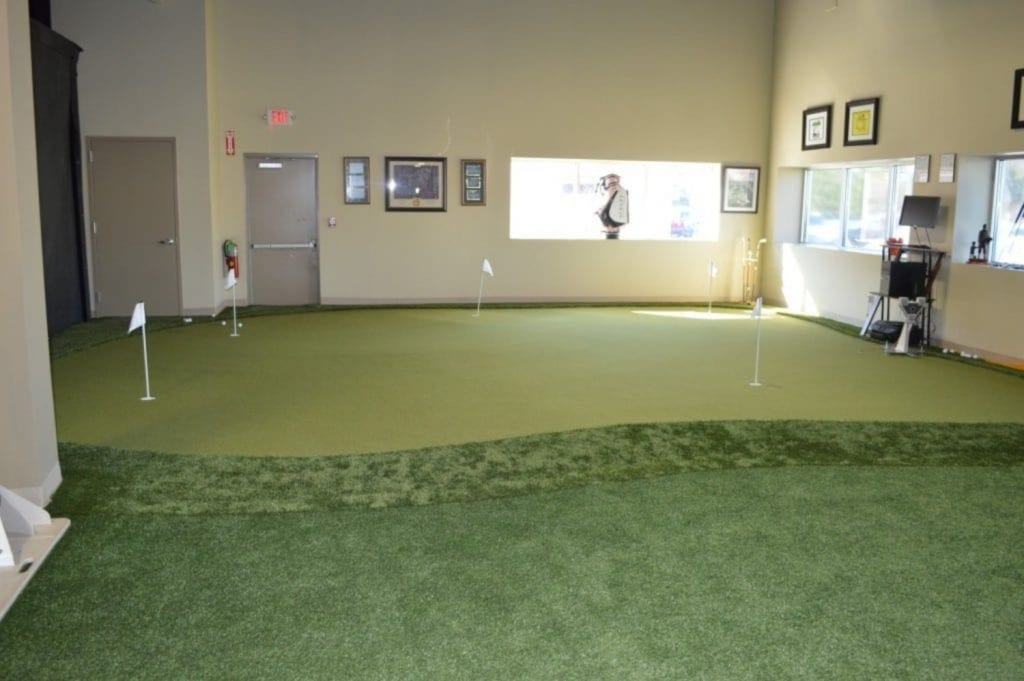 This is an image of our putting area at our physical therapy clinic in Syosset, New York.
