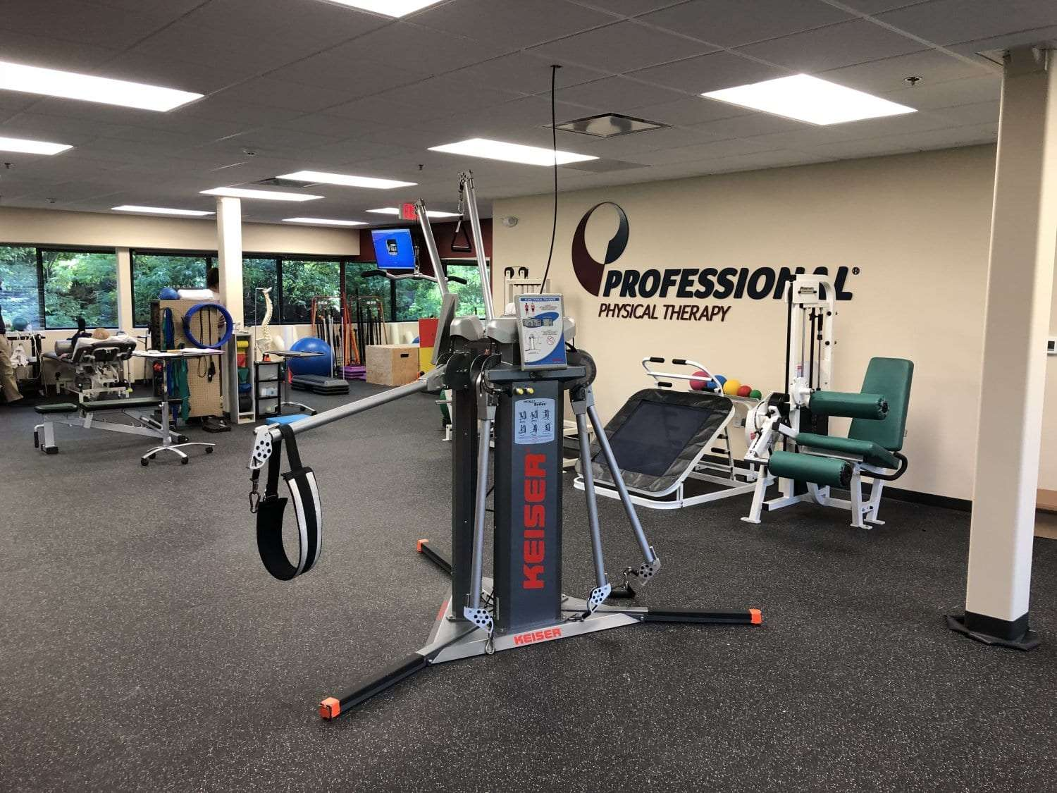 An image of exercise equipment used in physical therapy clinic in Randolph, New Jersey.