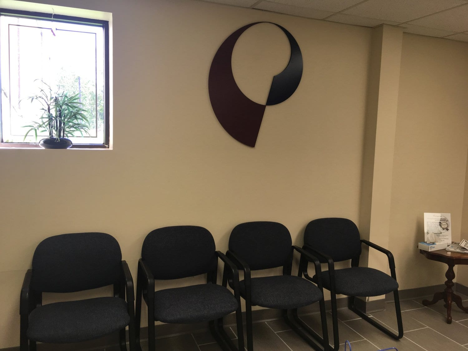 This is an image of the waiting area at our Waldwick, New Jersey physical therapy clinic.