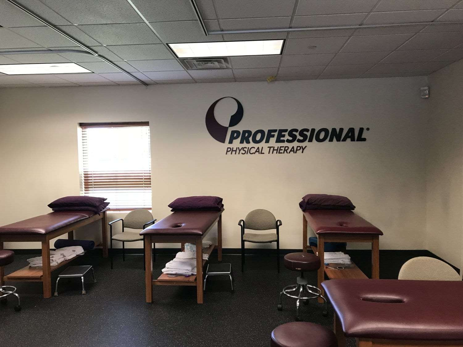 This is an image of four stretch beds at our physical therapy clinic in East Hanover, New Jersey.