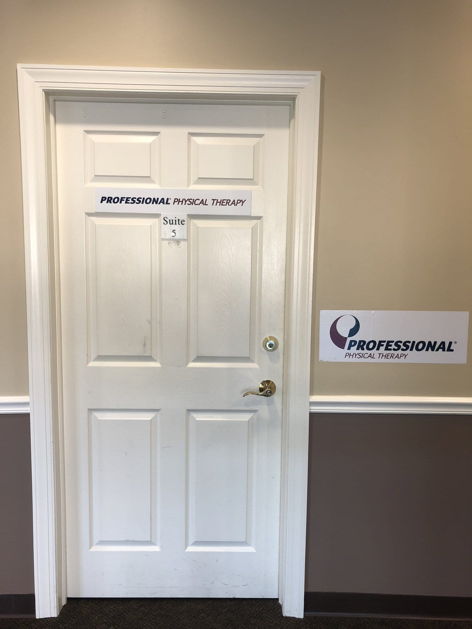 An image of the door to our physical therapy clinic in Hazlet, New Jersey.