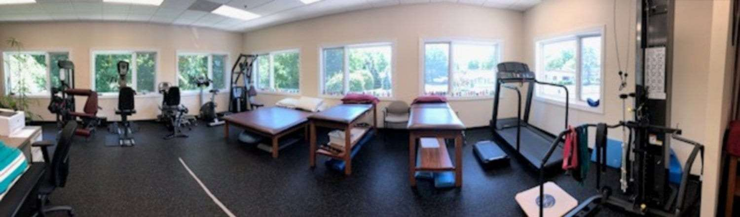 Here is a photo of our training room at our physical therapy clinic in Hazlet, New Jersey.